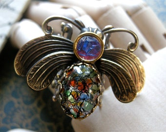 Fire Moth Ring