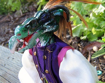 Hackle the Dragon OOAK Art Doll