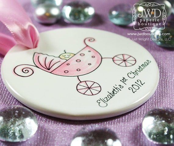 Baby's First Christmas Personalized Ornament Baby Girl