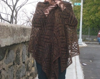 brown merino wrap (Elementals IV - Earth)