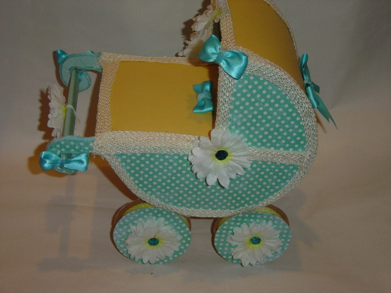 Items similar to new baby carriage baby shower centerpiece for Baby carriage decoration