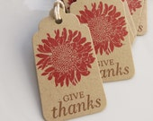 Thanksgiving Mum Tags Give Thanks - Set of 8 - Thanksgiving Decor Fall Favor Tags