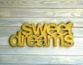 Sweet Dreams Handmade Wall Art Sign Nursery Kids Room Decor