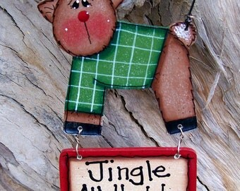 Jingle All The Way Reindeer Ornament