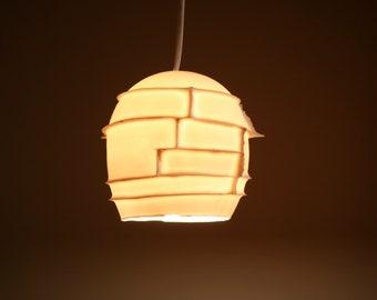 Ceiling Light: Spikes pendant, translucent porcelain.