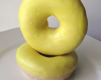 Lemon Cake Doughnut soap - Donut Goat Milk Soap - NEW - Yellow - Teen - Novelty Gift - Gag Gift - Valentines - fake food - shaped soap - mom