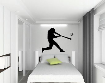 Baseball Player Wall Decal vinyl lettering sticker