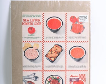 1961 Original Advertisement Lipton Tomato Soup from Better Homes and Gardens Magazine