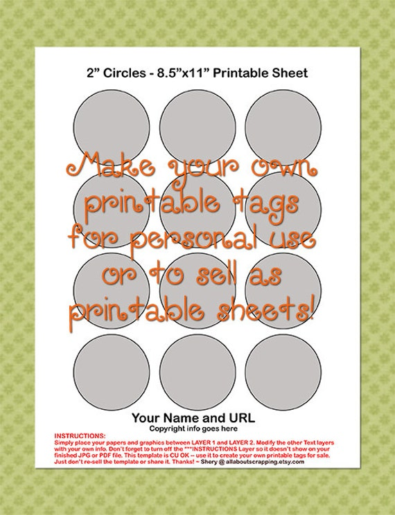 printable tags labels cupcake topper template 0025 2 circles