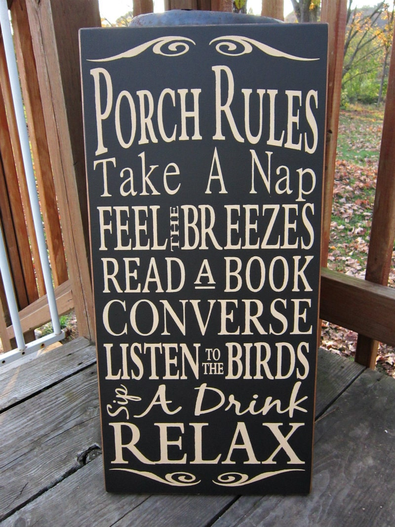 Porch Rules Large Wood Typography Sign By Bedlamcountrycrafts. Sickle Banners. Blue Lettering. Couple Shirt Stickers. Sport Trac Decals. Nypd Decals. Masqati Logo. Southern Decals. Social Networking Signs Of Stroke
