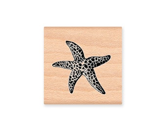 STARFISH  - wood mounted rubber stamp -(MCRS 22-11)