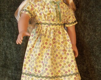 1800s- 18 inch Historical Doll  Dress