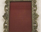 Vintage Cast Metal Frame Made In Italy