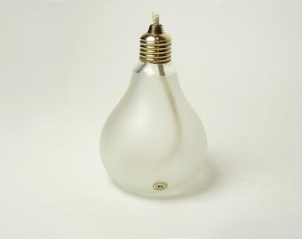 Pop Art Reijmyre Glass Sweden Light Bulb Oil Lamp 1960's