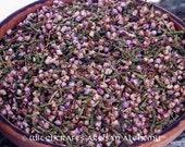 HEATHER FLOWERS (Calluna vulgaris) Certified Organic, Earth Kosher for Rituals Involving Faery Magic, Nature Spirits, Good Luck, Rain Making