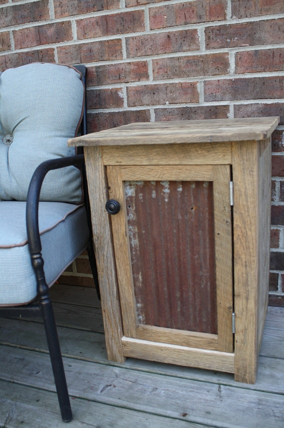YOUR Custom Rustic Barn Wood End Table, Night Stand, or Side Table ...