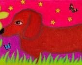 The Pups Daisies - Print