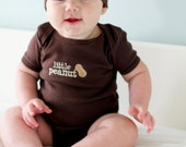 Little Peanut Shirt and Hat Set - Chocolate Brown American Apparel