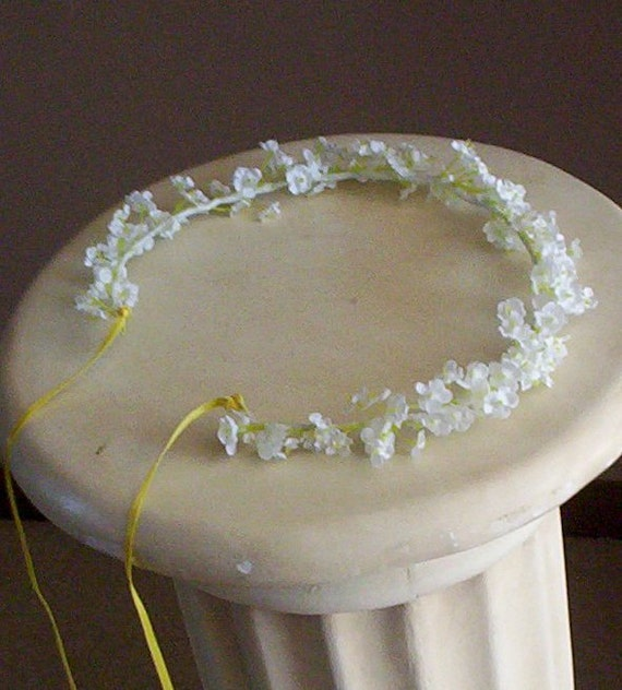 Flower Girl Halo Babys Breath Bella Flower Crown Bridal