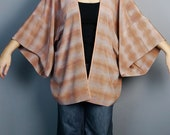 SAMPLE SALE***light brown/mauve shibori dyed silk kimono top