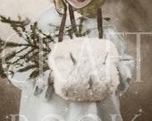 Vintage Holiday Postcard Digital Download 'Christmas Joyeux' Sepia Hand Tinted No. 147