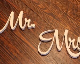 Mr. and Mrs. Cutout (S-034d) - wedding PHOTO prop vintage shabby chic cottage decor