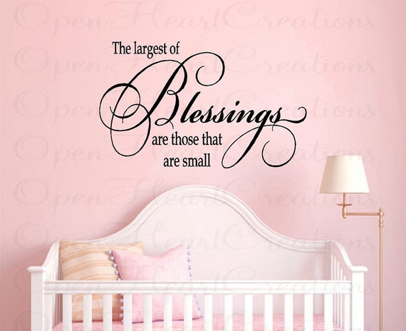 Wall Decal Quotes For Baby Nursery : Nursery wall quotes baby vinyl decals