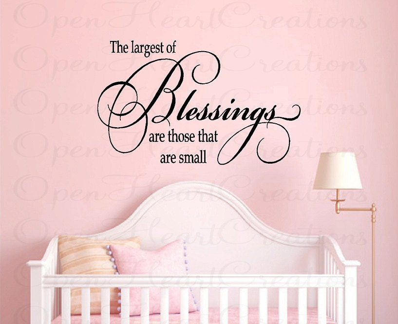 Nursery Wall Quotes Baby Nursery Vinyl Wall Decals Baby - Baby nursery wall decals sayings
