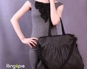 Sale 20%OFF-Ready To Ship-Vintage Pleated Tote/messenger bag/handbag/shoulder bag/school bag/laptop bag/diaper bag/casual bag/For Her-060