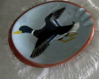 Vintage Ashtray Ash Tray Stangl Pottery Mallard Duck Tobacianna 1950s