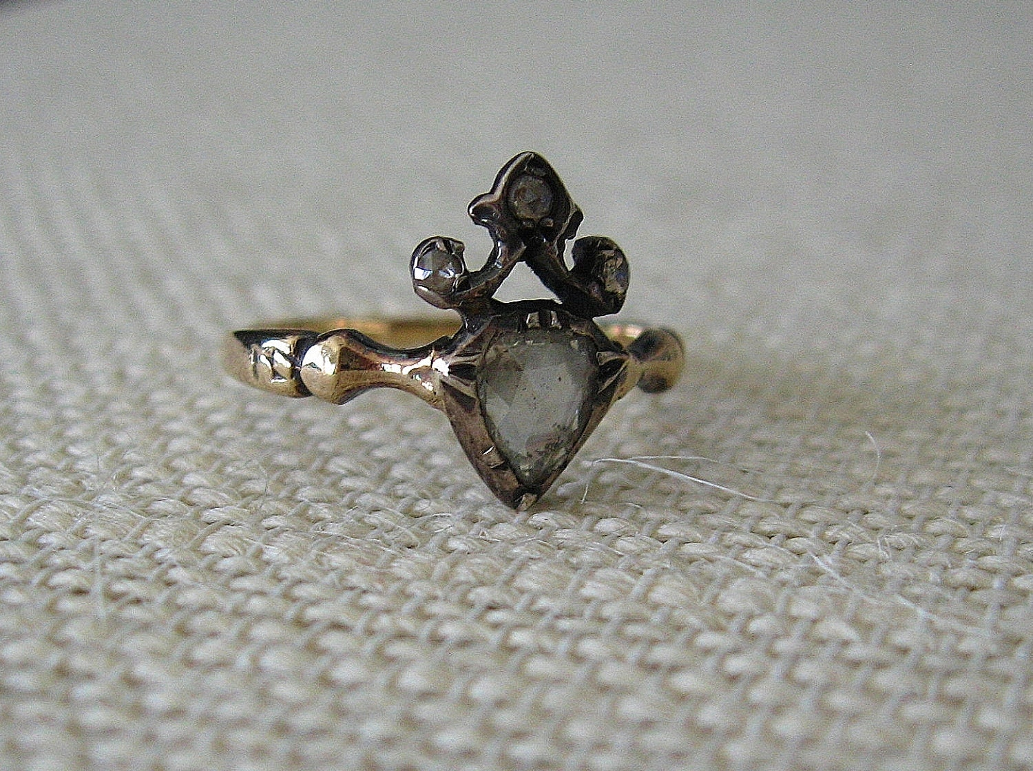 1700s Georgian Diamond Heart Engagement Ring