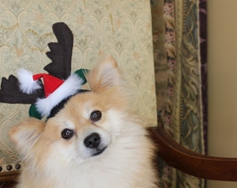 Reindeer ears for dog or cat for christmas