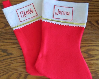 Embroidered Iron On Name Label for Christmas Stockings, Stocking Name Label, Christmas Label  FREE SHIPPING to US