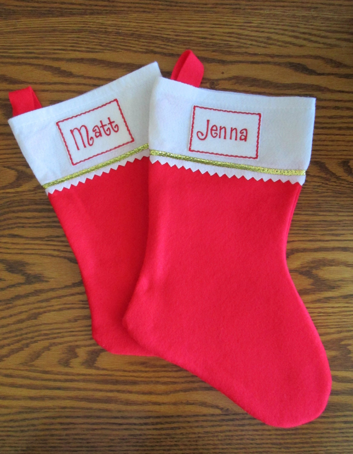 embroidered iron on name label for christmas stockings