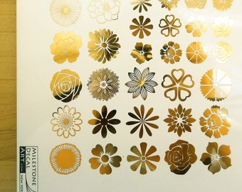 Flower Ceramic Decals, Glass Decals or Enamel Decals