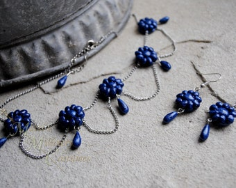 Southern Belle Victorian Regency Austen Necklace Choker earrings set CUSTOM