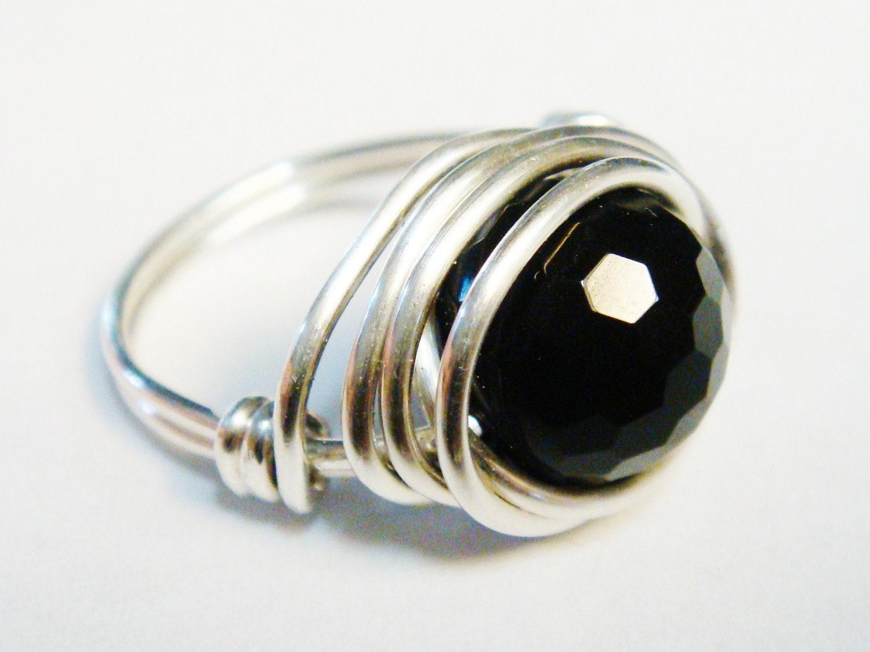 black onyx ring mens ring black onyx gemstone black ring. Black Bedroom Furniture Sets. Home Design Ideas