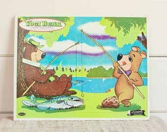 Vintage Frame Tray Large Toy Puzzle-Yogi Bear and Boo Boo Too