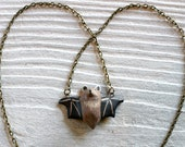 Bat in flight necklace