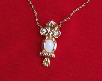 Cute Vintage Owl Pendant Necklace