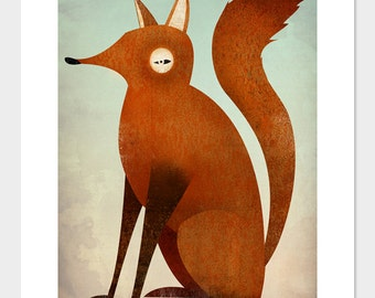 The Folklore Fox Graphic Art Illustration print Signed