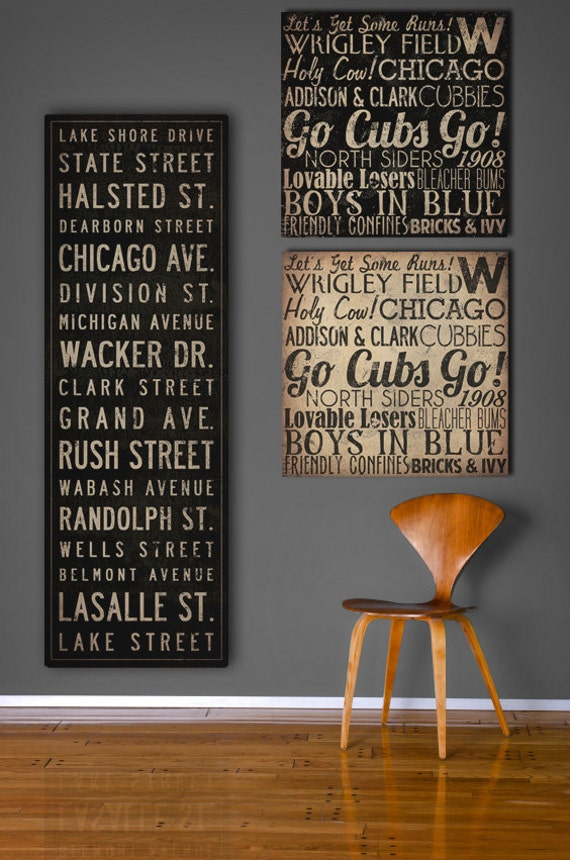 Quotes On Wood Wall Art : Text quote city sign custom personalized vintage style bus