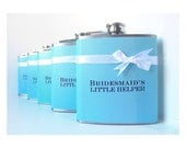 Custom Order for Kia Roberson: Set of 8 Bridesmaid Flasks