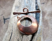 Solid Copper Toggle Clasp - Necklace Clasp - Bracelet Clasp - Metal Jewelry Clasp - T Bar Clasp - Handmade Supplies. Necklace Closure