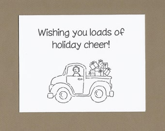 Loads of Love - Color Your Own Christmas Cards - Set of 4  - Great for Kids and Teachers