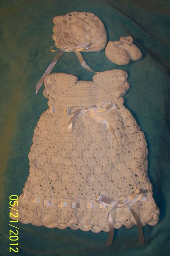 Infant Newborn Blessing Christening Gown Set