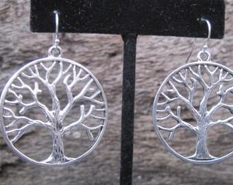 Oak tree,Tree of Life, Auburn,Toomer's Corner, Silver earrings