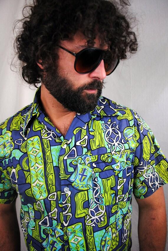 Vintage 1940s, 50s Hawaiiana Modes Hawaiian Shirt