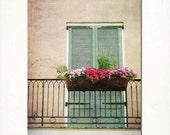 "New Orleans Wall Art. ""Come to my Window"" Fine Art Photograph. French Quarter Balcony, Window Home Decor. Mardi Gras Wall Art."