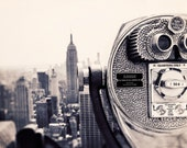 Black and White, Manhattan Photograph, Empire State Wall Art Print - NYC Skyline, Architecture Photography, Viewfinder Photo, Home Decor
